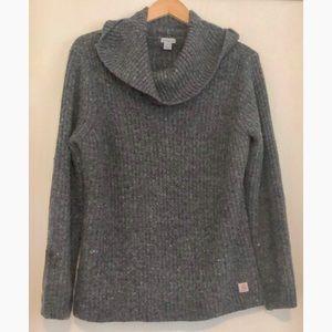 Carharrt wool cowl neck heavy knit sweater